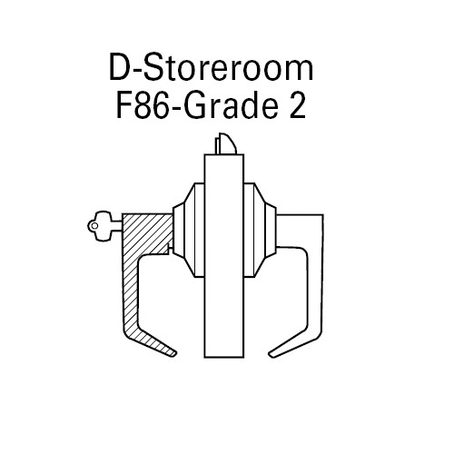 7KC37D14DS3626 Best 7KC Series Storeroom Medium Duty Cylindrical Lever Locks with Curved Return Design in Satin Chrome
