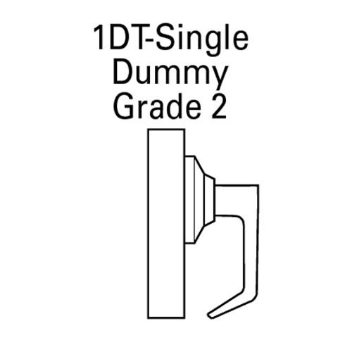 7KC-01DT15D-626 Best 7KC Series Single Dummy Trim Medium Duty Cylindrical Lever Locks with Contour Angle Return Lever Design in Satin Chrome