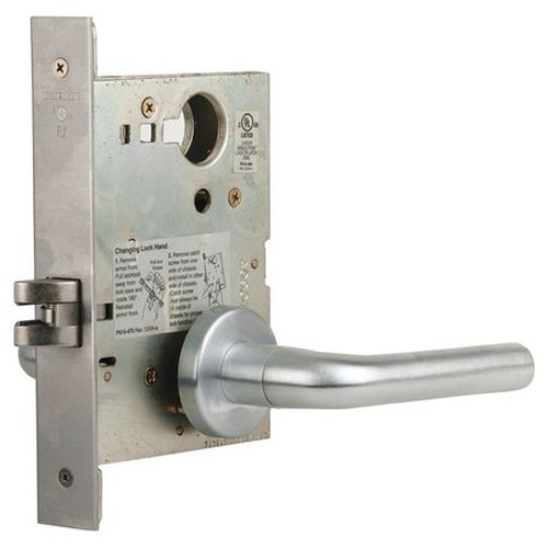 L9010-02A-626 Schlage L Series Passage Latch Commercial Mortise Lock with 02 Cast Lever Design in Satin Chrome