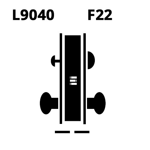L9040-06B-612 Schlage L Series Privacy Commercial Mortise Lock with 06 Cast Lever Design in Satin Bronze
