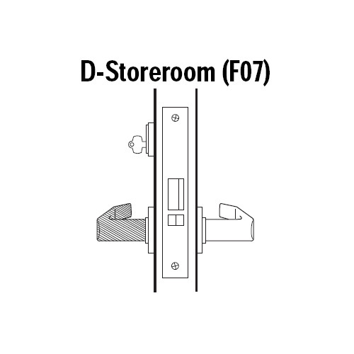 45H7D15R612 Best 40H Series Storeroom Heavy Duty Mortise Lever Lock with Contour with Angle Return Style in Satin Bronze