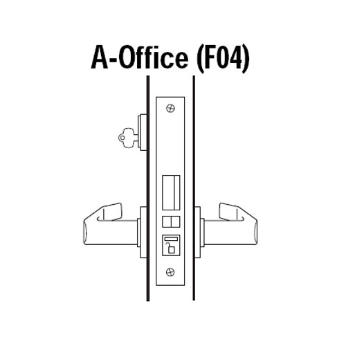 45H7A14S613 Best 40H Series Office without Deadbolt Heavy Duty Mortise Lever Lock with Curved with Return Style in Oil Rubbed Bronze
