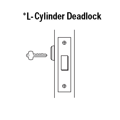 48H7L619 Best 48H Series Single Cylinder Mortise Deadlocks in Satin Nickel