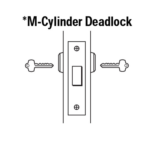 48H7M605 Best 48H Series Double Cylinder Mortise Deadlocks in Bright Brass