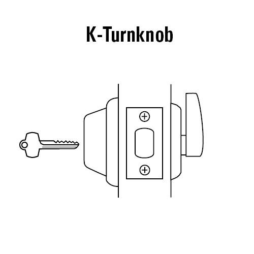 8T27KSTK605 Best T Series Single-Keyed with Turnknob Tubular Standard Deadbolt in Bright Brass