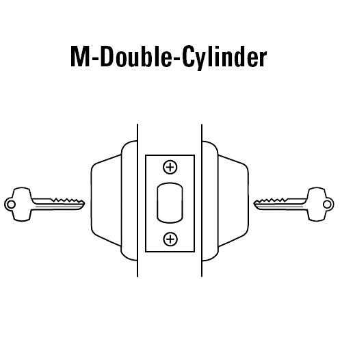 8T27MSTK605D5 Best T Series Double-Keyed Tubular Standard Deadbolt in Bright Brass