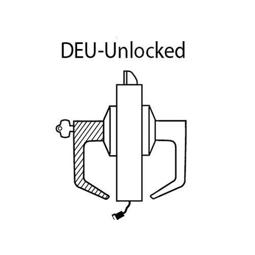 9KW37DEU15DS3626 Best 9KW Series Fail Secure Electromechanical Heavy Duty Cylindrical Lock with Contour w/ Angle Return Style in Satin Chrome