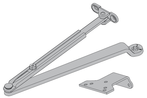 1250-Rw-62A-AL LCN Surface Mount Door Closer with Auxiliary Parallel Arm Shoe in Aluminum Finish