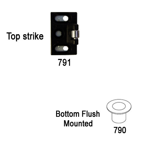 7110P-48-606 Yale 7000 Series Non Fire Rated Surface Vertical Rod Exit Device with Electric Latch Pullback in Satin Brass