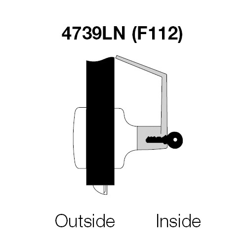 MO4739LN-626 Yale 4700LN Series Single Cylinder Communicating Storeroom Cylindrical Lock with Monroe Lever in Satin Chrome
