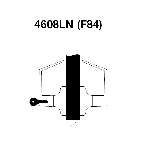 MO4608LN-606 Yale 4600LN Series Single Cylinder Classroom Cylindrical Lock with Monroe Lever in Satin Brass