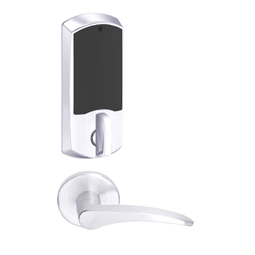 LEMD-GRW-P-12-625-00B-LH Schlage Privacy/Apartment Wireless Greenwich Mortise Deadbolt Lock with LED and 12 Lever in Bright Chrome