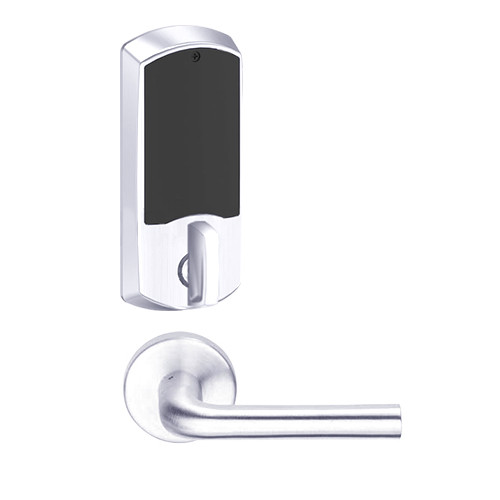 LEMD-GRW-J-02-625-00A Schlage Privacy/Apartment Wireless Greenwich Mortise Deadbolt Lock with LED and 02 Lever Prepped for FSIC in Bright Chrome