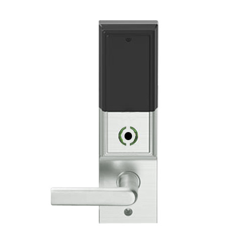 LEMS-ADD-P-01-619 Schlage Storeroom Wireless Addison Mortise Lock with LED and 01 Lever in Satin Nickel