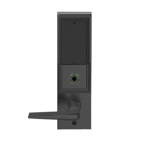 LEMS-ADD-P-05-622 Schlage Storeroom Wireless Addison Mortise Lock with LED and 05 Lever in Matte Black