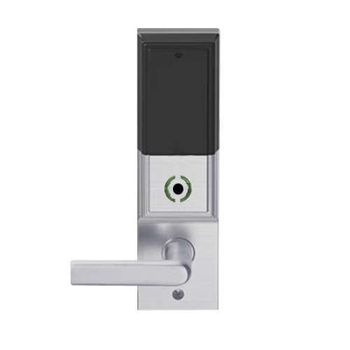 LEMB-ADD-L-01-626 Schlage Less Mortise Cylinder Privacy/Office Wireless Addison Mortise Lock with Push Button, LED and 01 Lever in Satin Chrome