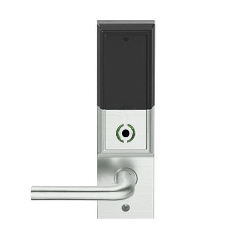 LEMB-ADD-L-02-619 Schlage Less Mortise Cylinder Privacy/Office Wireless Addison Mortise Lock with Push Button, LED and 02 Lever in Satin Nickel