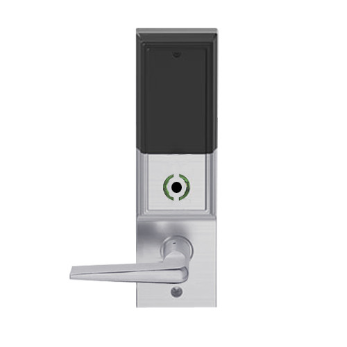 LEMB-ADD-L-05-626 Schlage Less Mortise Cylinder Privacy/Office Wireless Addison Mortise Lock with Push Button, LED and 05 Lever in Satin Chrome