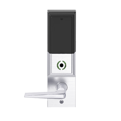 LEMB-ADD-J-05-625 Schlage Privacy/Office Wireless Addison Mortise Lock with Push Button, LED and 05 Lever Prepped for FSIC in Bright Chrome