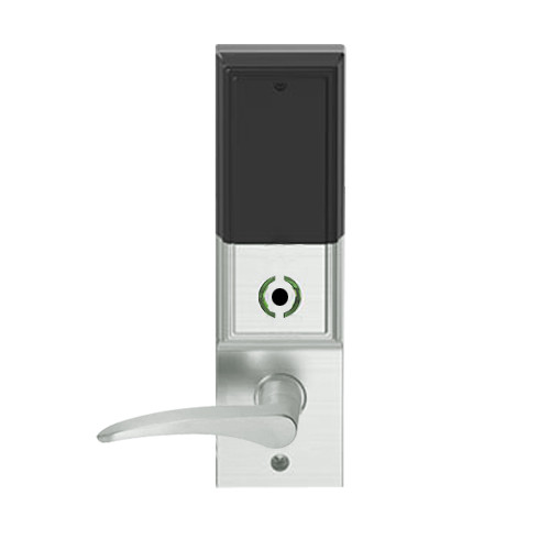 LEMB-ADD-J-12-619-LH Schlage Privacy/Office Wireless Addison Mortise Lock with Push Button, LED and 12 Lever Prepped for FSIC in Satin Nickel