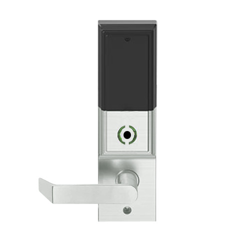 LEMB-ADD-BD-06-619 Schlage Privacy/Office Wireless Addison Mortise Lock with Push Button, LED and Rhodes Lever Prepped for SFIC in Satin Nickel