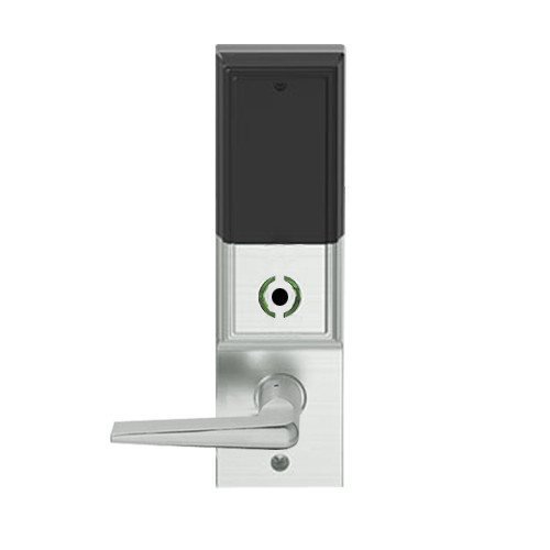 LEMB-ADD-BD-05-619 Schlage Privacy/Office Wireless Addison Mortise Lock with Push Button, LED and 05 Lever Prepped for SFIC in Satin Nickel