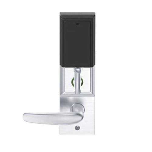 LEMD-ADD-L-07-625 Schlage Less Mortise Cylinder Privacy/Apartment Wireless Addison Mortise Deadbolt Lock with LED and Athens Lever in Bright Chrome