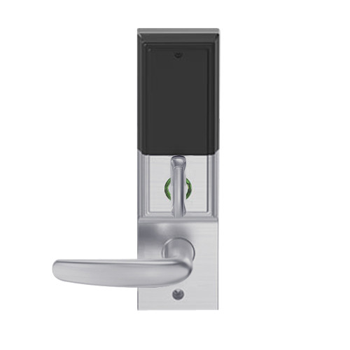LEMD-ADD-L-07-626 Schlage Less Mortise Cylinder Privacy/Apartment Wireless Addison Mortise Deadbolt Lock with LED and Athens Lever in Satin Chrome