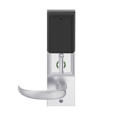 LEMD-ADD-L-17-626AM Schlage Less Mortise Cylinder Privacy/Apartment Wireless Addison Mortise Deadbolt Lock with LED and Sparta Lever in Satin Chrome Antimicrobial