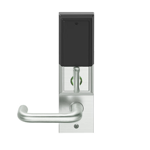 LEMD-ADD-L-03-619 Schlage Less Mortise Cylinder Privacy/Apartment Wireless Addison Mortise Deadbolt Lock with LED and Tubular Lever in Satin Nickel