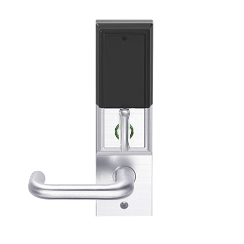 LEMD-ADD-L-03-625 Schlage Less Mortise Cylinder Privacy/Apartment Wireless Addison Mortise Deadbolt Lock with LED and Tubular Lever in Bright Chrome