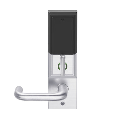 LEMD-ADD-L-03-626AM Schlage Less Mortise Cylinder Privacy/Apartment Wireless Addison Mortise Deadbolt Lock with LED and Tubular Lever in Satin Chrome Antimicrobial