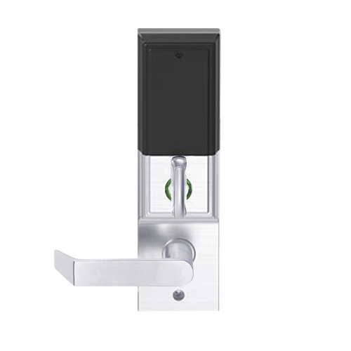 LEMD-ADD-L-06-625 Schlage Less Mortise Cylinder Privacy/Apartment Wireless Addison Mortise Deadbolt Lock with LED and Rhodes Lever in Bright Chrome