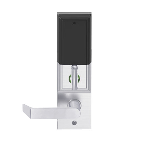 LEMD-ADD-L-06-626AM Schlage Less Mortise Cylinder Privacy/Apartment Wireless Addison Mortise Deadbolt Lock with LED and Rhodes Lever in Satin Chrome Antimicrobial
