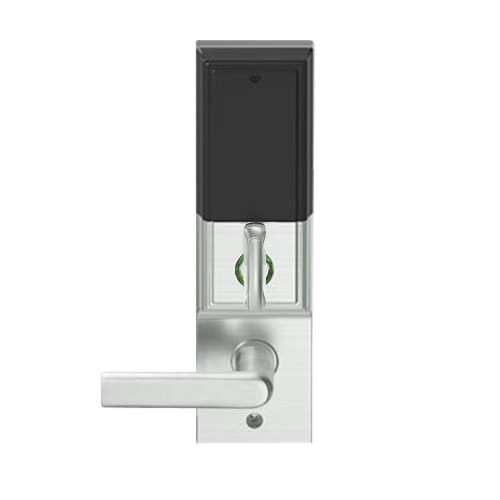 LEMD-ADD-L-01-619 Schlage Less Mortise Cylinder Privacy/Apartment Wireless Addison Mortise Deadbolt Lock with LED and 01 Lever in Satin Nickel