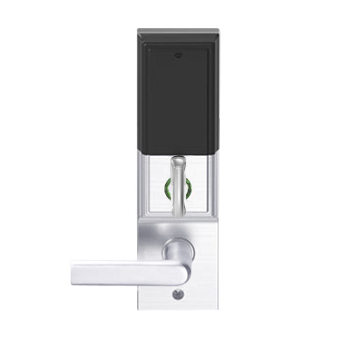 LEMD-ADD-L-01-625 Schlage Less Mortise Cylinder Privacy/Apartment Wireless Addison Mortise Deadbolt Lock with LED and 01 Lever in Bright Chrome