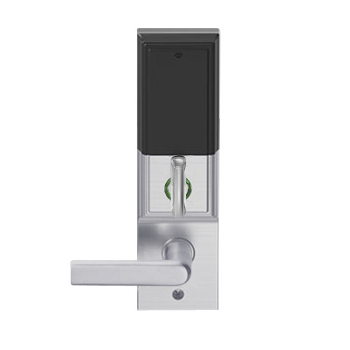 LEMD-ADD-L-01-626 Schlage Less Mortise Cylinder Privacy/Apartment Wireless Addison Mortise Deadbolt Lock with LED and 01 Lever in Satin Chrome