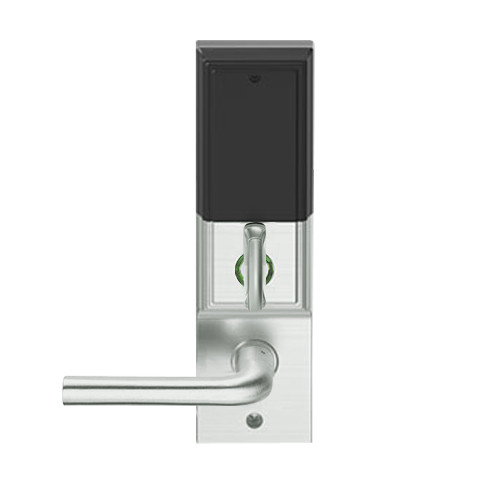 LEMD-ADD-L-02-619 Schlage Less Mortise Cylinder Privacy/Apartment Wireless Addison Mortise Deadbolt Lock with LED and 02 Lever in Satin Nickel