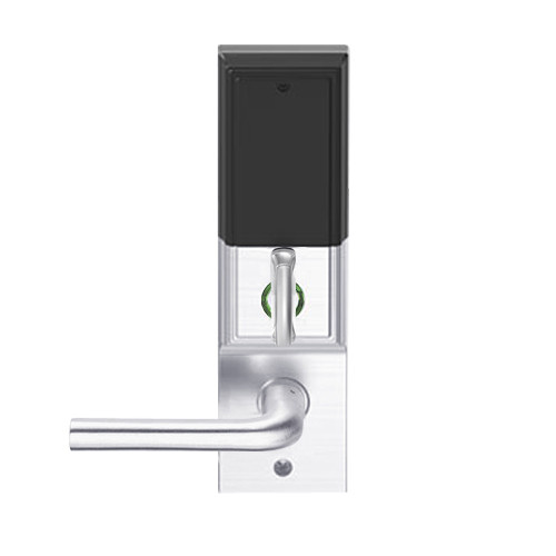 LEMD-ADD-L-02-625 Schlage Less Mortise Cylinder Privacy/Apartment Wireless Addison Mortise Deadbolt Lock with LED and 02 Lever in Bright Chrome