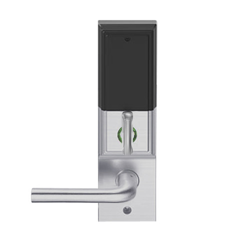 LEMD-ADD-L-02-626 Schlage Less Mortise Cylinder Privacy/Apartment Wireless Addison Mortise Deadbolt Lock with LED and 02 Lever in Satin Chrome