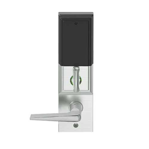 LEMD-ADD-L-05-619 Schlage Less Mortise Cylinder Privacy/Apartment Wireless Addison Mortise Deadbolt Lock with LED and 05 Lever in Satin Nickel