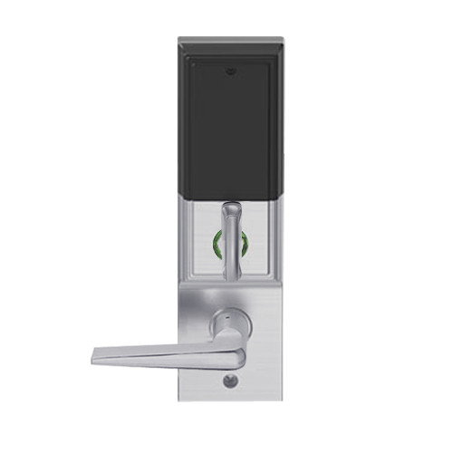 LEMD-ADD-L-05-626 Schlage Less Mortise Cylinder Privacy/Apartment Wireless Addison Mortise Deadbolt Lock with LED and 05 Lever in Satin Chrome