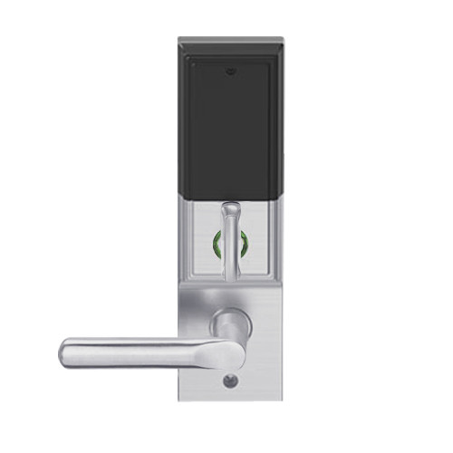 LEMD-ADD-L-18-626 Schlage Less Mortise Cylinder Privacy/Apartment Wireless Addison Mortise Deadbolt Lock with LED and 18 Lever in Satin Chrome