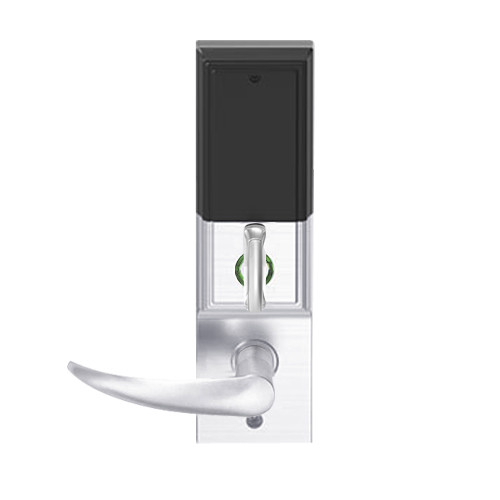 LEMD-ADD-L-OME-625 Schlage Less Mortise Cylinder Privacy/Apartment Wireless Addison Mortise Deadbolt Lock with LED and Omega Lever in Bright Chrome