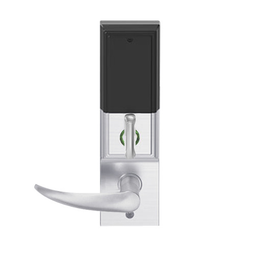 LEMD-ADD-J-OME-626AM Schlage Privacy/Apartment Wireless Addison Mortise Deadbolt Lock with LED and Omega Lever Prepped for FSIC in Satin Chrome Antimicrobial
