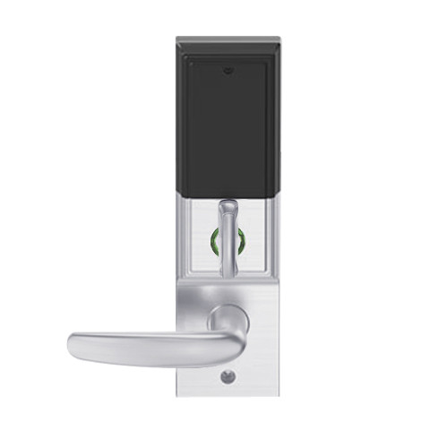 LEMD-ADD-BD-07-626AM Schlage Privacy/Apartment Wireless Addison Mortise Deadbolt Lock with LED and Athens Lever Prepped for SFIC in Satin Chrome Antimicrobial
