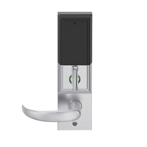 LEMD-ADD-BD-17-626 Schlage Privacy/Apartment Wireless Addison Mortise Deadbolt Lock with LED and Sparta Lever Prepped for SFIC in Satin Chrome