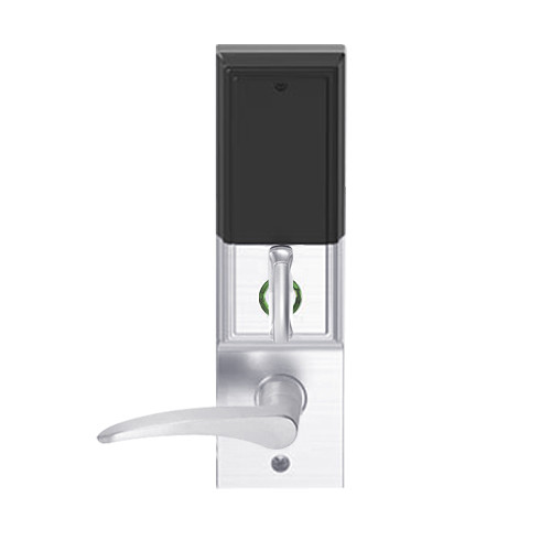 LEMD-ADD-BD-12-625-LH Schlage Privacy/Apartment Wireless Addison Mortise Deadbolt Lock with LED and 12 Lever Prepped for SFIC in Bright Chrome