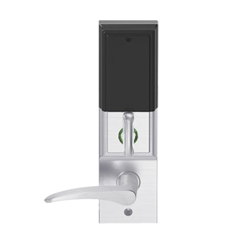 LEMD-ADD-BD-12-626AM-LH Schlage Privacy/Apartment Wireless Addison Mortise Deadbolt Lock with LED and 12 Lever Prepped for SFIC in Satin Chrome Antimicrobial
