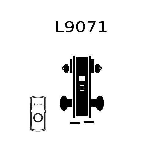 L9071J-03A-626 Schlage L Series Classroom Security Commercial Mortise Lock with 03 Cast Lever Design Prepped for FSIC in Satin Chrome